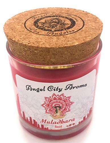 (Angel City Aroma CHAKRA Candle Aura - Lotus Scent, Los Angeles Farmers Market Original 6.3 oz. Soy Vegetable Wax, Phlates free (Lotus Fragrance) (Root))