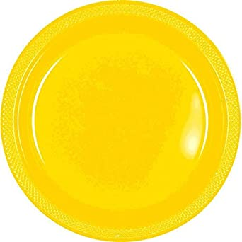 Pack Of 20 Amscan Purple 9in Plastic Plates