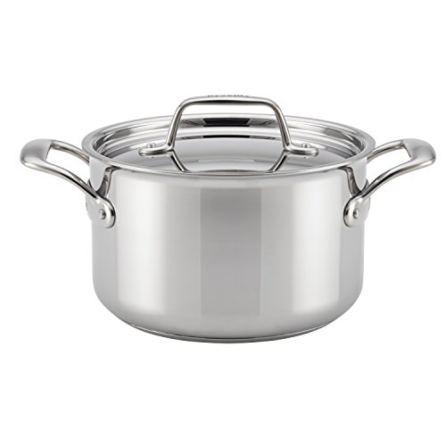 Breville Thermal Pro Clad 4 quart Covered Saucepot, Medium, Stainless Steel by Breville