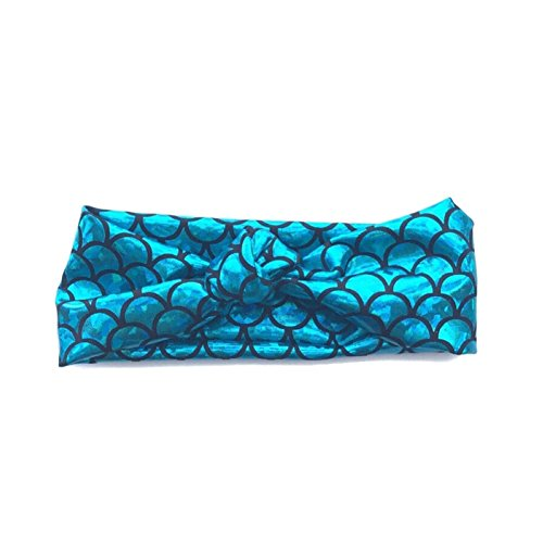 BIZAR Mermaid Fish Scale Tie Headband Hair Accessories for Kids Toddlers