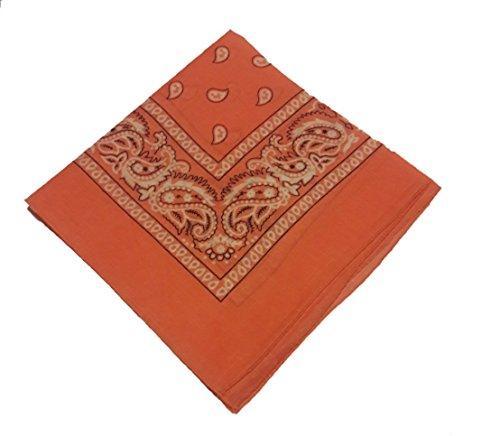 Styllion printed Bandanas - 12 pack - 100% Cotton (Peach 12pcs)
