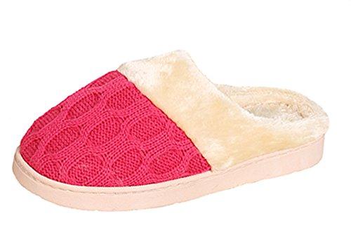 Surblue - Zapatillas de estar por casa para mujer Red