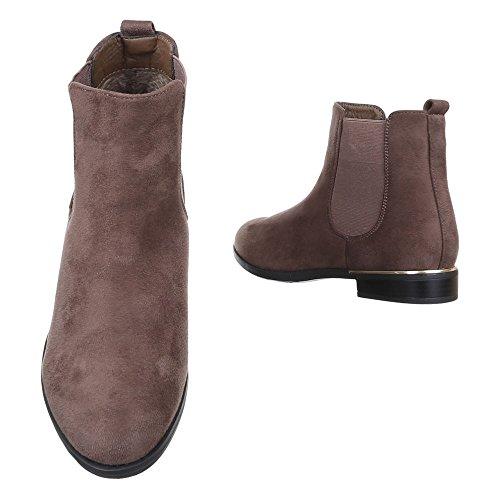 Ital-Design - Botas Chelsea Mujer marrón claro