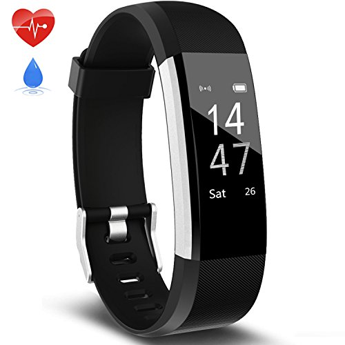 Fitness Tracker Activity Tracker Aneken Smart Band Heart Rate Sleep Monitor Waterproof Smart Bracelet Bluetooth Pedometer Wristband Smart Watches for Android and iOS Smart Phones