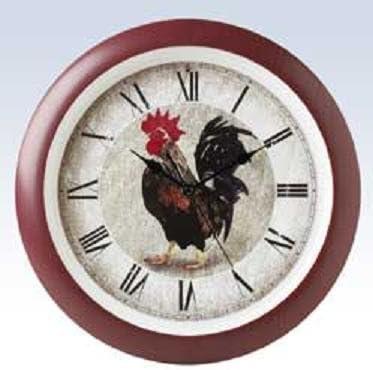 ROOSTER  Wall Clock farmer kitchen home bird rise shine