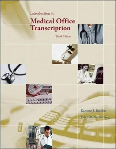 Introduction to Medical Office Transcription by McGraw-Hill Education