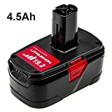 SUN POWER C3 XCP for Craftsman 19.2 Volt Lithium Battery 4.5Ah 130279005 C3 Diehard Rechargeable Drill Battery