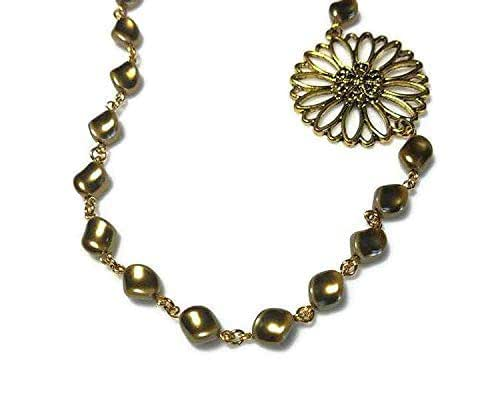 Amazon.com: Curved Bronze Swarovski Pearl Necklace with