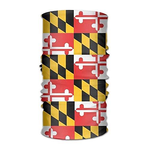 (Judaho Unisex Stylish Maryland Flag Quick Dry Microfiber Headwear Outdoor Magic Bandana Neck Gaiter Head Wrap Headband Scarf Face Mask Ultra Soft Elastic Handscarf)