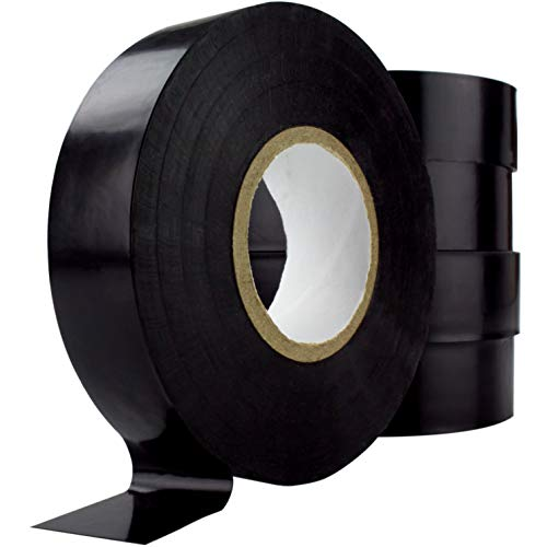 Nova Supply Professional-Grade Black Electrical Tape 5 Pack. 3/4 in x 60 ft. Made of Flame Retardant, UV & Weather Resistant Vinyl. UL & CSA Certified for Industrial Uses Insulating Up to 600V