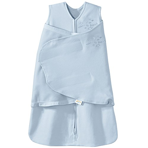 HALO SleepSack 100% Cotton Swaddle, Baby Blue, Small