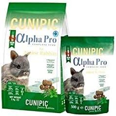 Cunipic Alpha Pro Comida Conejo Junior 2KG, Negro, Mediano