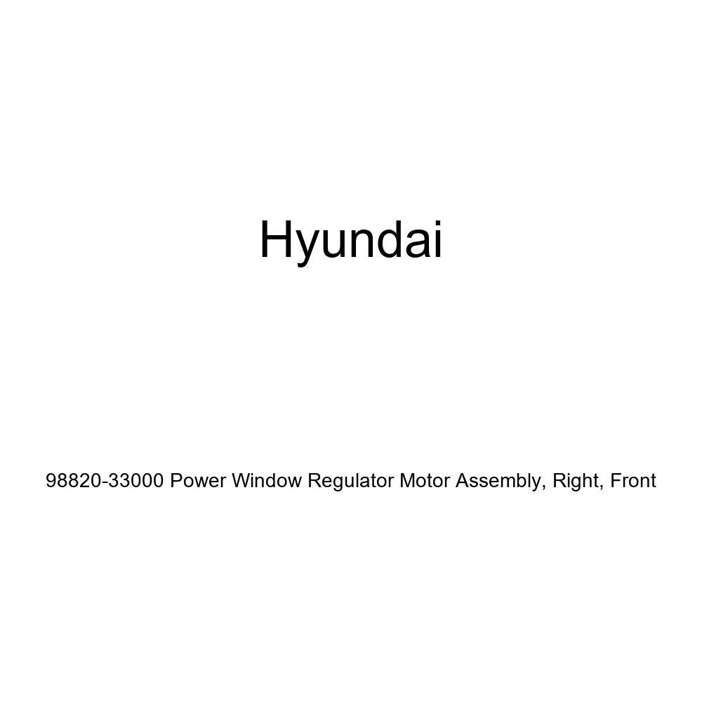Front Genuine Hyundai 98820-33000 Power Window Regulator Motor Assembly Right