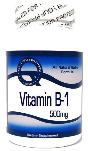 Vitamin B-1 (Thiamine Hydrochloride) 500mg 100 Capsules ^GLS by GLS
