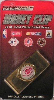 Cincinnati Reds MLB Gold Plated Money Clip