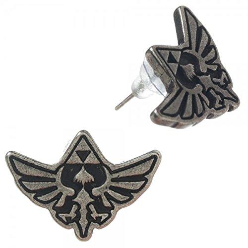 Legend of Zelda Hylian Crest Stud Earrings (Triforce Piercing)