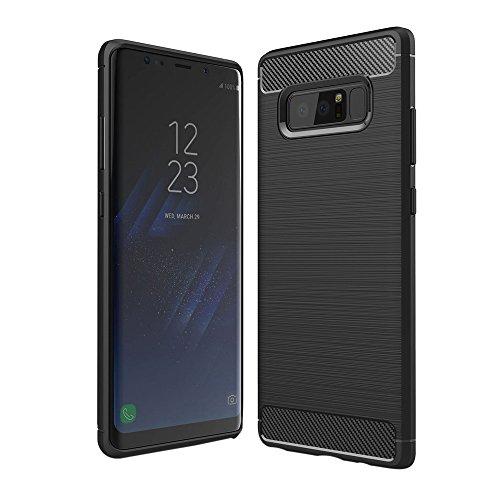 Phone Case Cover For Samsung Galaxy Note 8 Slim Carbon Fiber TPU Protective Case Cover Echou (Black)