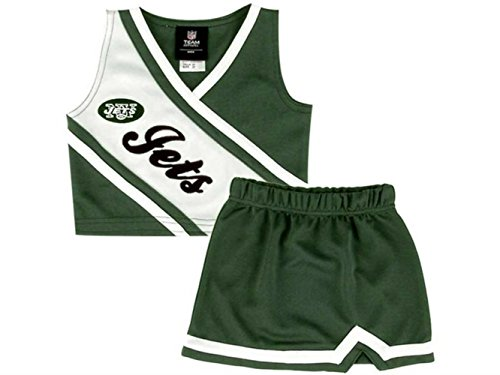 2 Outfit Piece Youth Cheerleader (New York Jets 3T Infant Size 2 Piece Sleeveless Cheerleader Uniform - Costume)