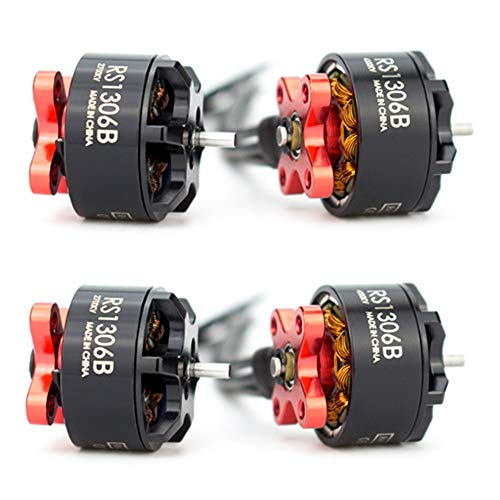 DishyKooker E-max 1306 RS1306 Version 2 RS1306B 2700KV/4000KV Brushless Motor 3-4S for RC MultiRotor FPV Racing Drone Spare Part 4000KV 4pcs Quadcopter Drone RC Drones for Kids and Adults