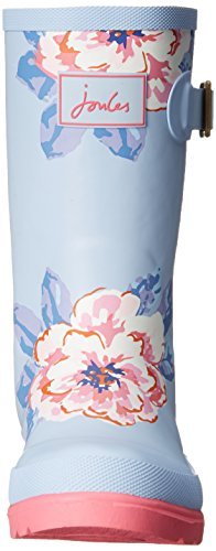 Joules Kid Blue Rain Big JNR Little Girls Floral Boot Welly Kid Toddler Sky rPr0xR