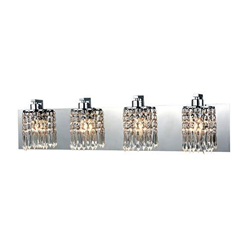 Elk Lighting 11238/4 Vanity-Lighting-fixtures, 7 x 28 x 4, Chrome