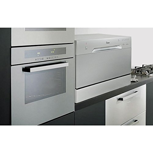 New Countertop Dishwasher Silver Portable Compact Energy Star Apartment by MTN Gearsmith