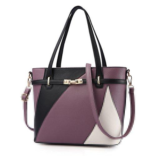 Púrpura de Bolso Bolso Femenino Compras Portátil RUIREN Hombro Cuero del de de con wZqBnT