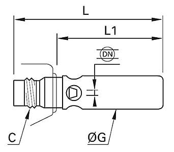 Venturi Brass Metric Parker 0690 10 00 Nozzles for Polymer Blowgun M12X1.25