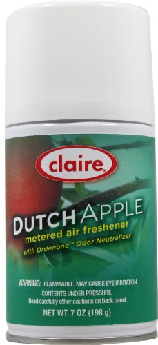Claire C-104 7 Oz. Dutch Apple Metered Air Freshener Aerosol Can (Case of 12) from Claire
