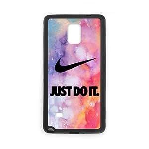 Just Do It Funda Samsung Galaxy Note 4 caja del teléfono celular Funda Negro T3D8HQ8V cubiertas del teléfono único