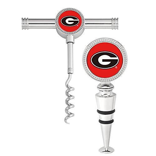 - Supreme Housewares NCAA 2-Piece University of Georgia Wine Stopper and Corkscrew