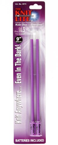 Knit Lite Knitting Needles 9'' US 10.5 (6.5mm) Purple By The Package