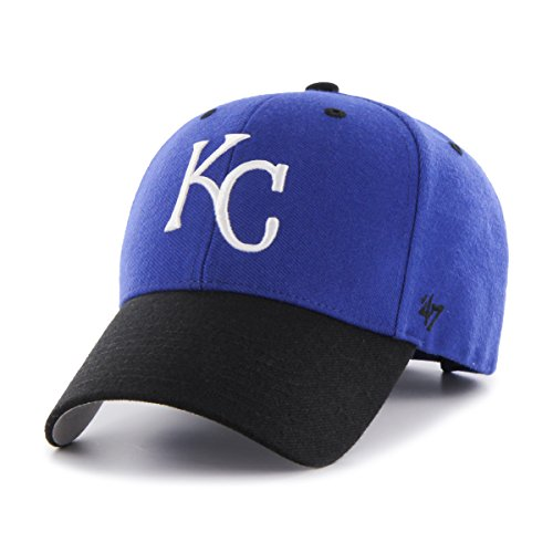 '47 MLB Kansas City Royals Audible Two Tone MVP Hat, One Size, Royal (Royals Kansas City Hats)
