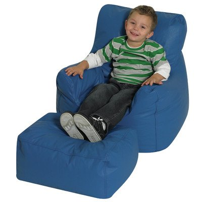Cozy Chair and Ottoman in Blue by Children's Factory