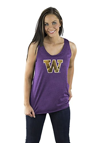 Gameday Couture NCAA Washington Huskies Womens Team Color Triblend Racerback Tank, XX-Large, Purple