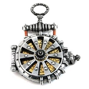 Steampunk taschenuhr  Schmuck Damen Alchemy Gothic Steampunk EER Patent Solar Powered ...