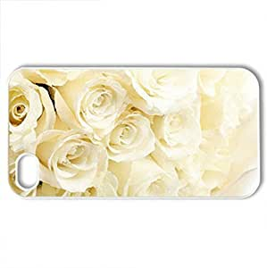 Beautiful White RoseCase For HTC One M7 Cover (Flowers Series, Watercolor style, White)