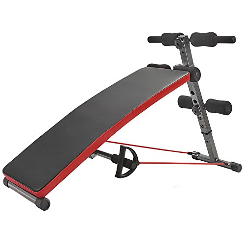 RELIFE REBUILD YOUR LIFE Sit Up Bench Adjustable Workout Foldable Fitness Equipment for Home Gym