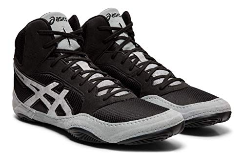 ASICS Unisex Snapdown 2 Wrestling Shoes, Black/Silver, 9.5 M US