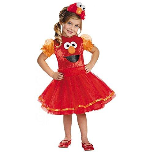 Elmo Tutu Deluxe Costume, Medium (3T-4T) -