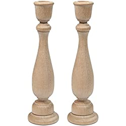 """9"""" Inch Unfinished Candlesticks Holders 