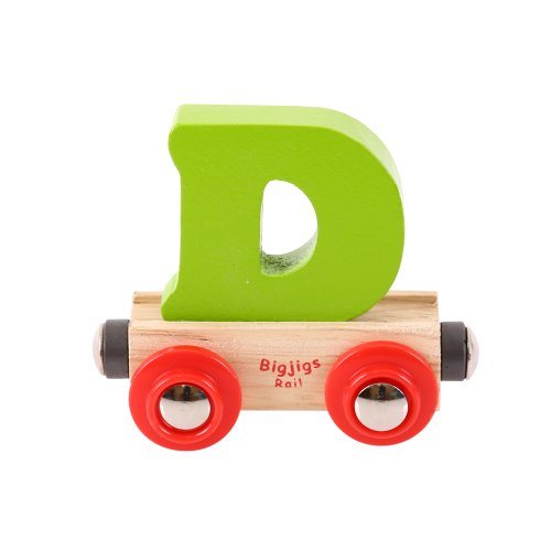 - Bigjigs Rail Rail Name Letter D (Colors Vary)