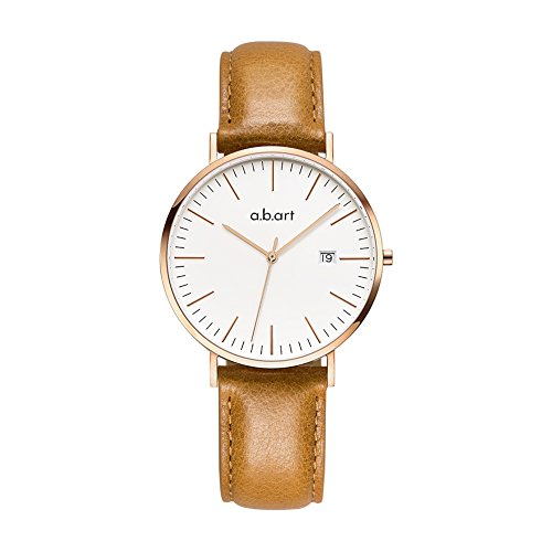 a.b.art FB36-000-3L Analog Leather Strap Rose Gold Case LadyWatch (watches Brown) by a.b.art (Image #1)