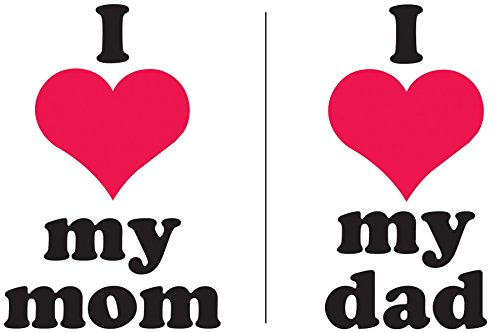 Iron Ons Color Transfers - Uptown Baby Color Transfer Iron-Ons 2/Pkg-I Heart My Mom & I Heart My Dad