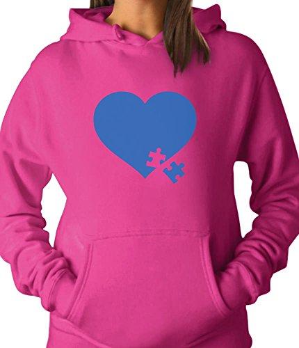 TeeStars - Autism Awareness Heart Puzzle - Autism Awareness Month Women Hoodie Large ()