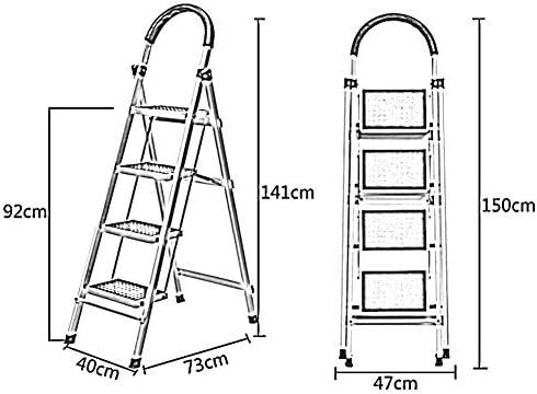 CAIJUN Plegable Escalera Portaherramientas Multifunción Espesar Portátil Plegable, Escalera DE 4, 5, 6 Escalones (Color : Blanco, Tamaño : 6 Step Ladder): Amazon.es: Hogar