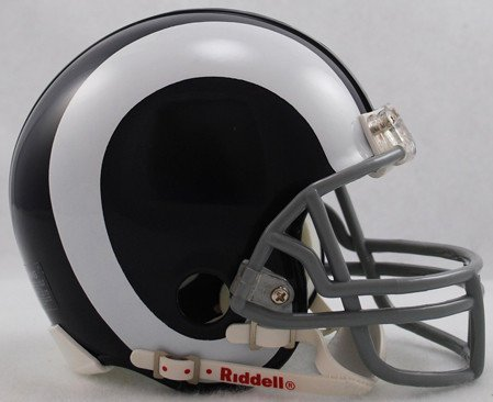 Riddell NFL Los Angeles Rams 1965-1972 Throwback Replica Vsr4 Mini Football Helmet 1969 Riddell Mini Replica
