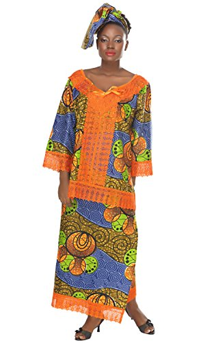 African Planet Women's 3 Piece Skirt Set Ethiopian Wedding Inspired Maxi Gele by African Planet