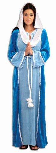 All Saint Day Costumes - Forum Novelties Women's Deluxe Biblical Virgin Mary Costume, Blue, Standard