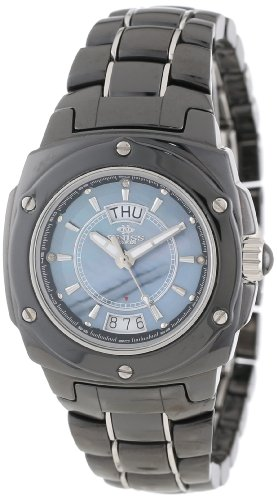 - Oniss Paris Women's ON436-L BLK Galaxy Swiss Quartz Mother-Of-Pearl Dial Silvertone Watch